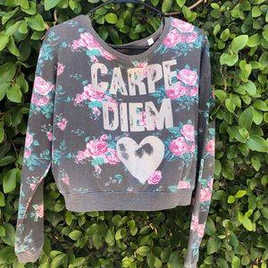 Carpe Diem cropped sweatshirt
